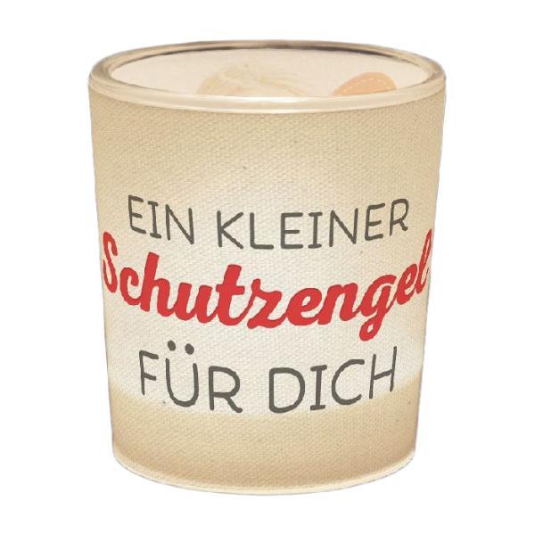Windlicht+Teelicht 6x6cm Für Dich Schutzengel in Geschen...