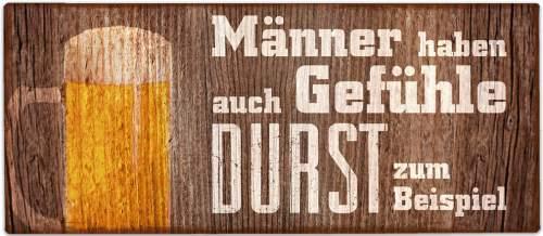 Deko Schild aus Metall Für Dich mit Spruch Männergefühl ...