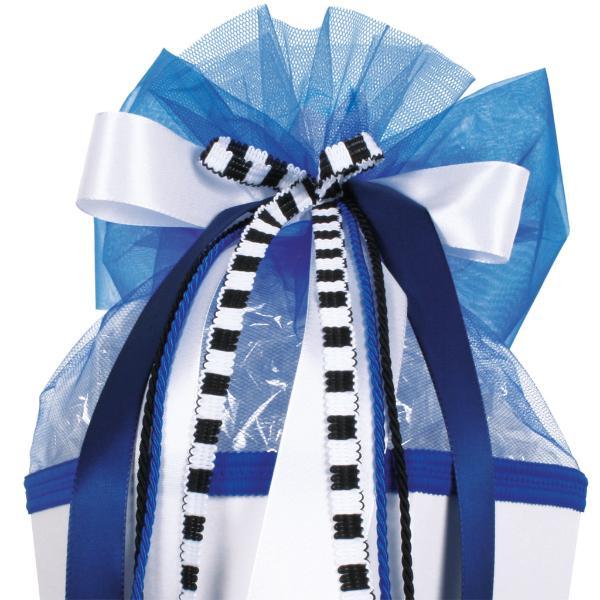 ROTH Schultütenschleife Speed, weiß/blau/schwarz