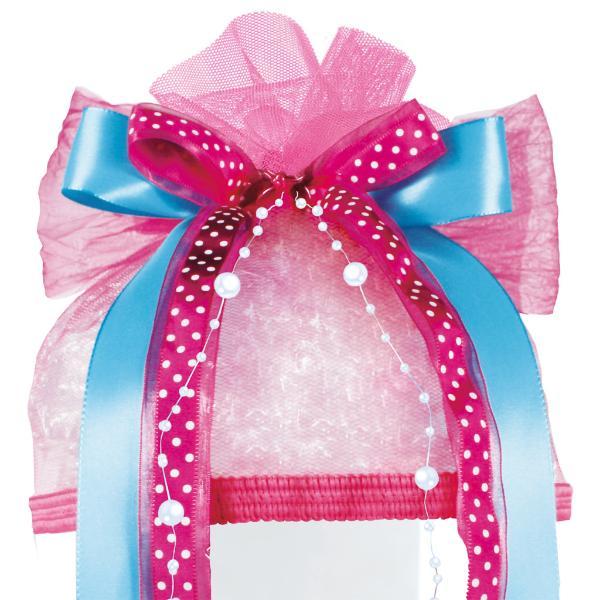 ROTH Schultütenschleife Pink Dots, hellblau/pink/weiß