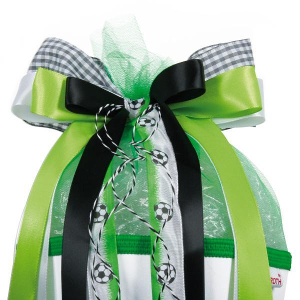 ROTH Schultütenschleife Football, schwarz/grün/weiß