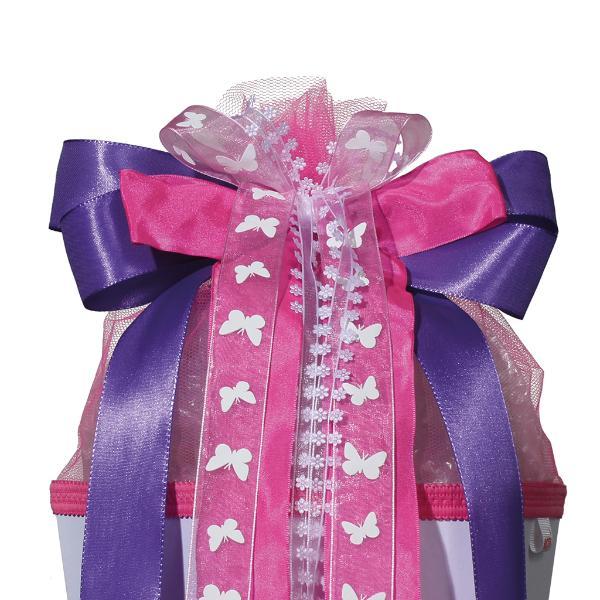 ROTH Schultütenschleife Purple Rain, lila/pink