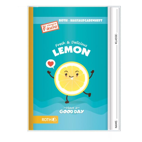ROTH Hausaufgabenheft Teens Lemon, DIN A5