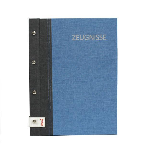 ROTH Zeugnismappe Bicolor mit Buchschrauben, dunkelblau/...