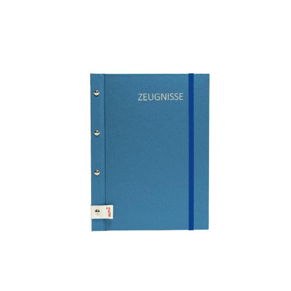 ROTH Zeugnismappe Metallium mit Buchschrauben, blau