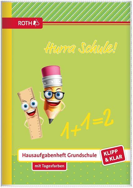 ROTH Grundschul-Hausaufgabenheft Klipp & Klar Hurra Sch...