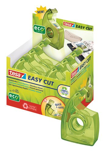 #6xtesa ecoLogo Easy Cut Handabroller, grün, im Thekendi...