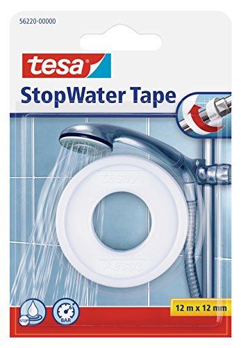 tesa Dichtungsband StopWater, 12 mm x 12 m, weiß