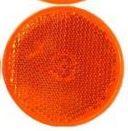IWH Anhänger-Reflektor, rund, Durchmesser: 60 mm, gelb