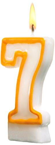 SUSY CARD Zahlenkerze, Ziffer: 7, aus Wachs, Höhe: 85 mm