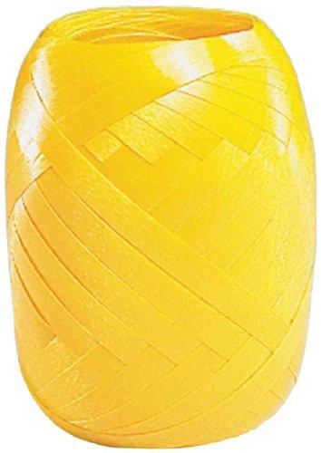 SUSY CARD Ringelband-Eiknäuel, glatt, 5 mm x 20 m, gelb