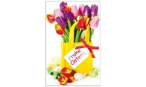 SUSY CARD Oster-Grußkarte Tulpen in Filztasche