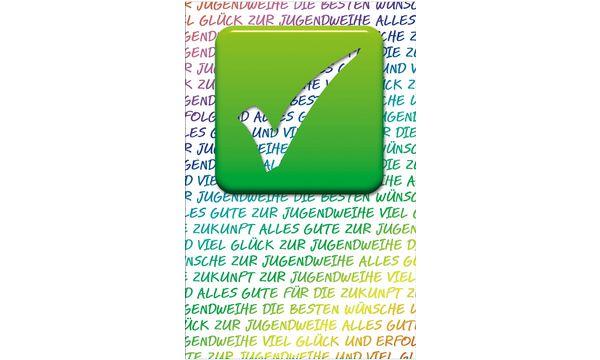 SUSY CARD Jugendweihe-Grußkarte Haken