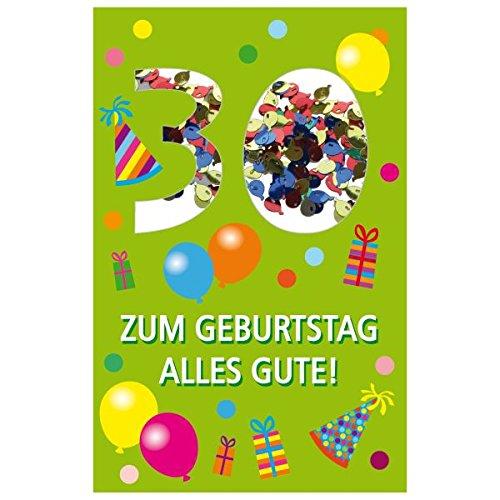 SUSY CARD Geburtstagskarte Konfetti 30. Geburtstag