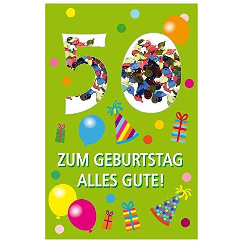 SUSY CARD Geburtstagskarte Konfetti 50. Geburtstag
