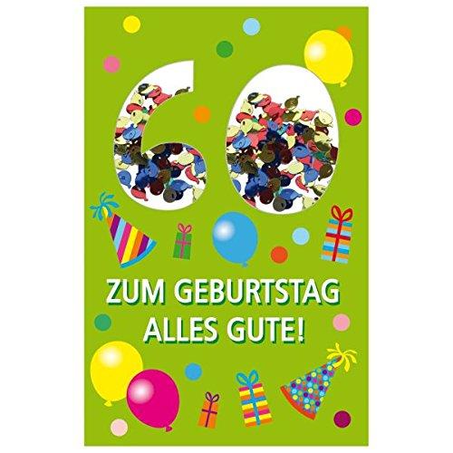 SUSY CARD Geburtstagskarte Konfetti 60. Geburtstag