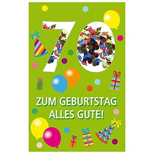 SUSY CARD Geburtstagskarte Konfetti 70. Geburtstag