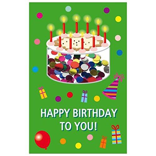 SUSY CARD Geburtstagskarte Konfetti Torte