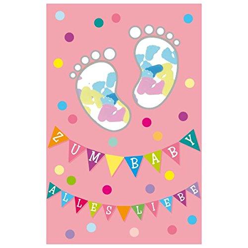 SUSY CARD Geburtskarte Konfetti Mädchen