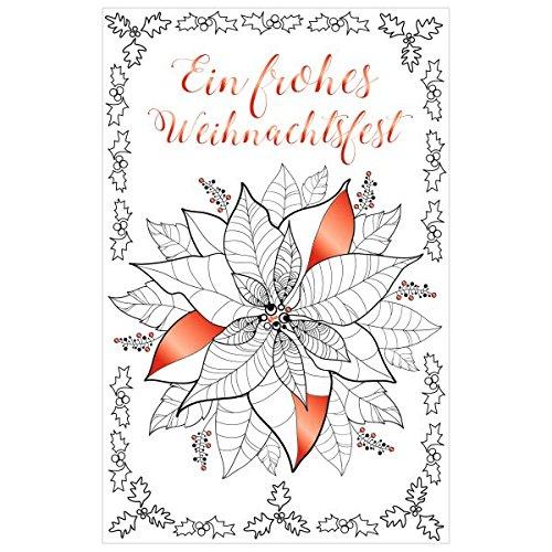 SUSY CARD Weihnachtskarte Weihnachtsstern, zum Ausmalen