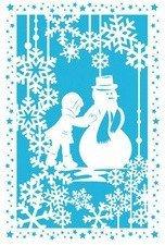 SUSY CARD Weihnachtskarte Lasercut Schneemann