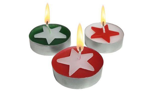 SUSY CARD Weihnachts-Teelichter Star, Durchmesser: 40 mm