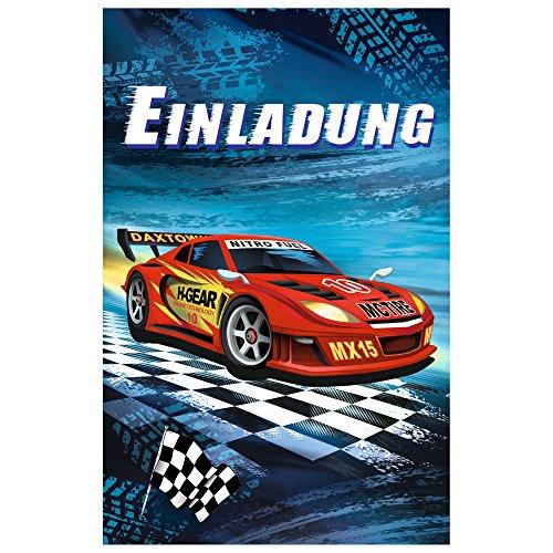 SUSY CARD Einladungskarte - Kindergeburtstag Super Racer