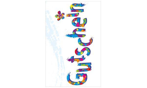 SUSY CARD Gutscheinkarte Schrift und Blumen