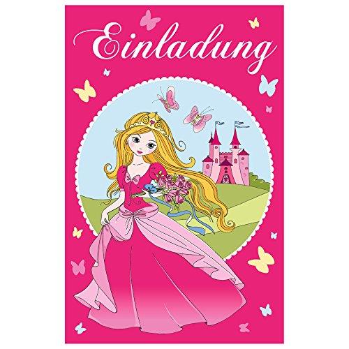 SUSY CARD Einladungskarte - Kindergeburtstag Princess