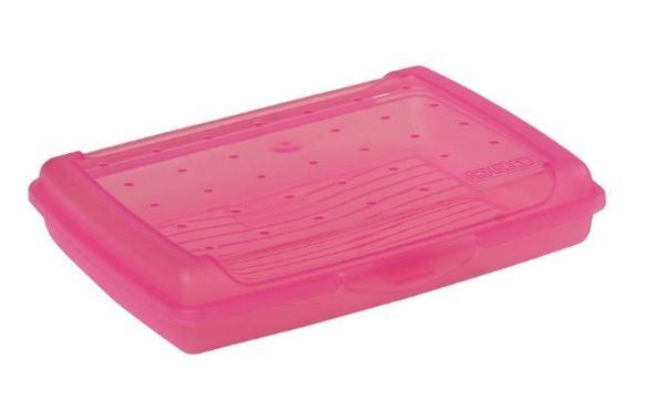 keeeper Brotdose luca, Click-Box Mini, pink-transparent