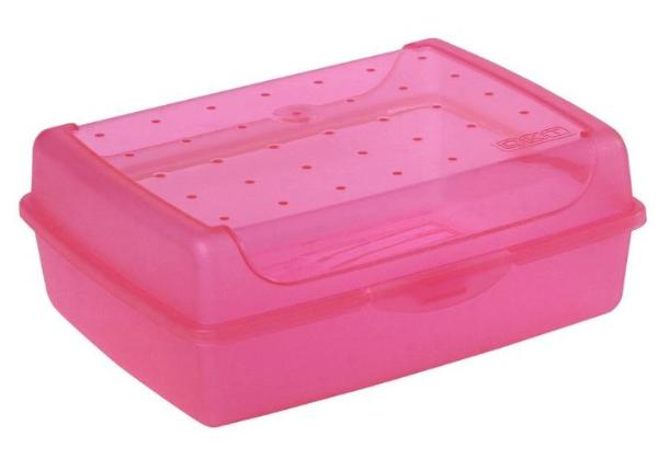 keeeper Brotdose luca, Click-Box Midi, pink-transparent