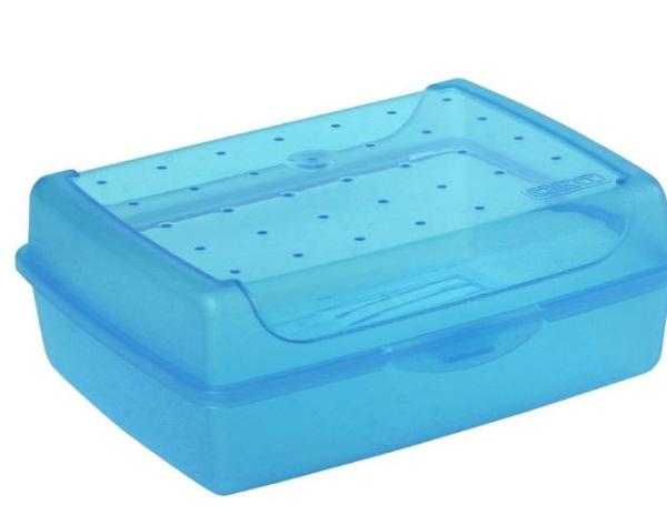keeeper Brotdose luca, Click-Box Midi, blau-transparent