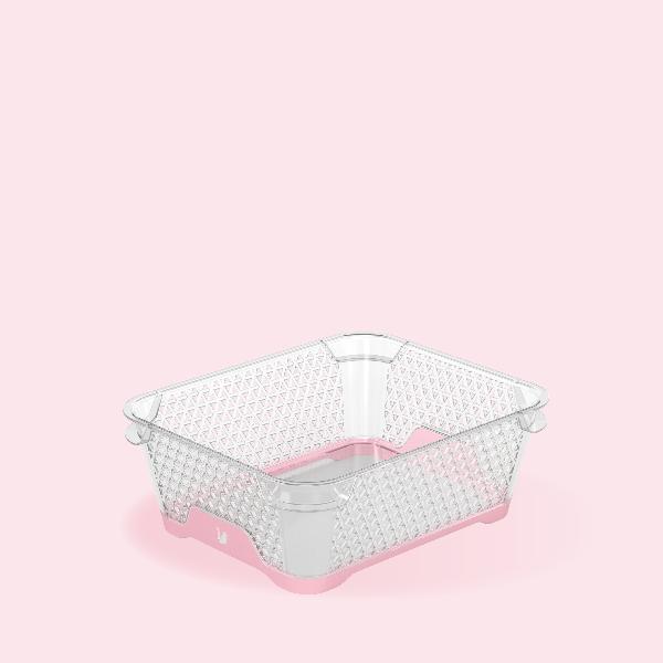 keeeper Stapelkörbchen jonas, DIN A6, PP, pearl pink