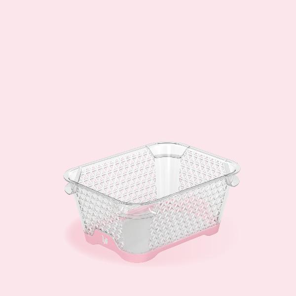 keeeper Stapelkörbchen jonas, DIN A7, PP, pearl pink
