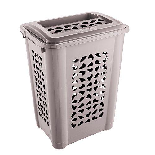 keeeper Wäschebox per, mit Deckel, 60 Liter, grau