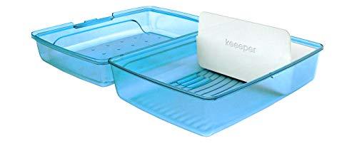 keeeper Brotdose lucas, Click-Box Midi mit Einsatz, blau