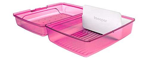 keeeper Brotdose lucas, Click-Box Midi mit Einsatz, pink