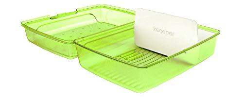 keeeper Brotdose lucas, Click-Box Midi mit Einsatz, grün