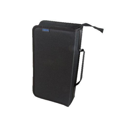 LogiLink CD-/DVD-Tasche, für 96 CDs/DVDs, Nylon, schwarz