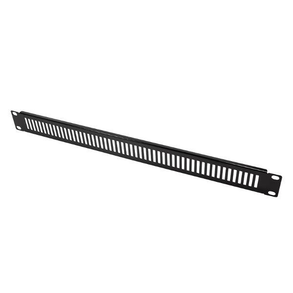 LogiLink 19 Blindplatte, 1 HE, schwarz (RAL9005)