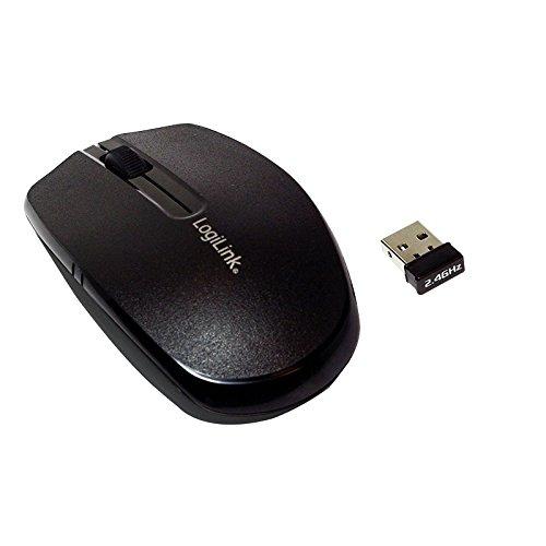 LogiLink Optische Mini Notebook Maus, kabellos, schwarz