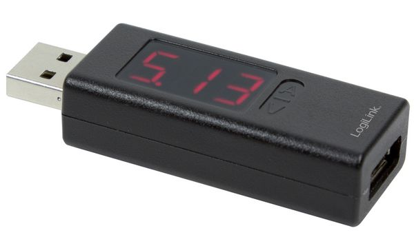 LogiLink USB-Leistungsmessgerät, 1-fach, bis 5 V / 5 A