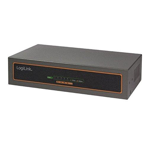 LogiLink Desktop Gigabit Ethernet PoE Switch, 5-Port