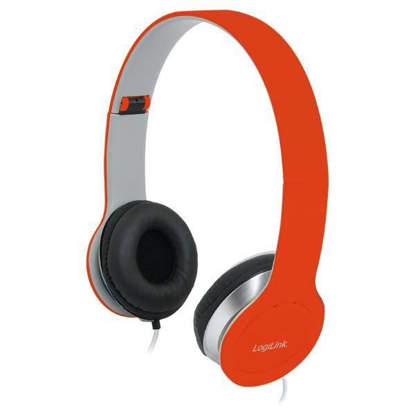 LogiLink Headset High Quality, faltbar, rot
