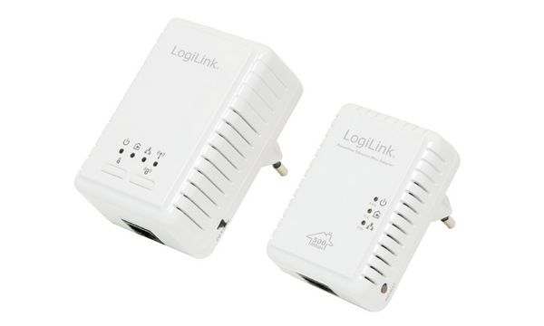 LogiLink Powerline WLAN Adapter Starter-Set, 500 MBit/Sek.
