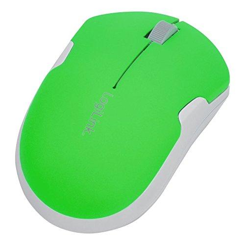 LogiLink Optische Notebook Maus, kabellos, neon-grün