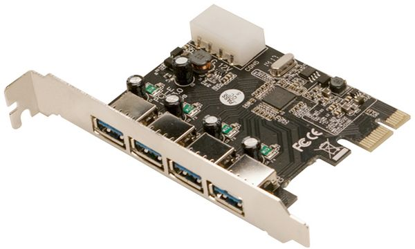 LogiLink USB 3.0 PCI-Express Karte, 4 Port, 5 GBit/Sek.