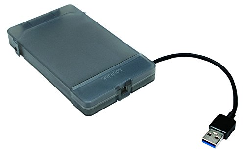 LogiLink USB 3.0 - SATA Adapter mit Schutzhülle, schwarz