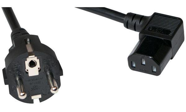 LogiLink Schutzkontakt-Stromkabel, 3,0 m, einseitig