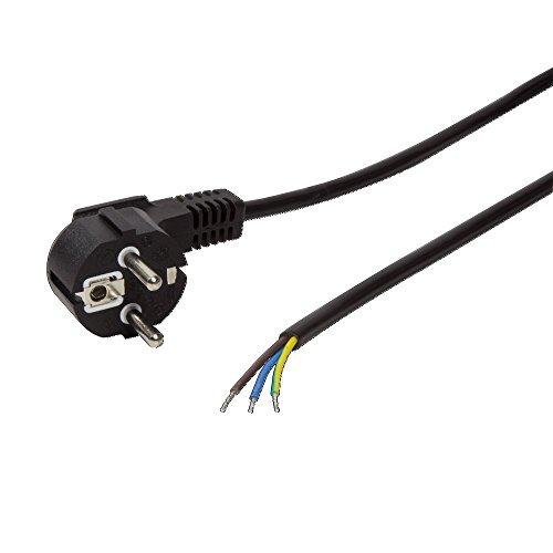 LogiLink Schutzkontakt-Stromkabel mit offenem Kabelende